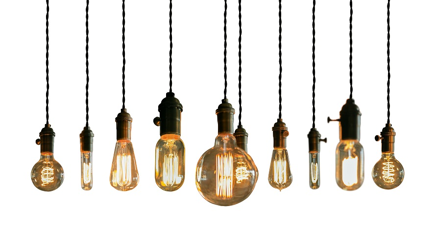 A selection of edison lightbulbs