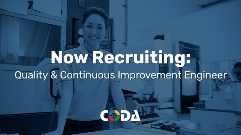 Coda Plastics Now Recruiting a Quality and Continuous Improvement Engineer