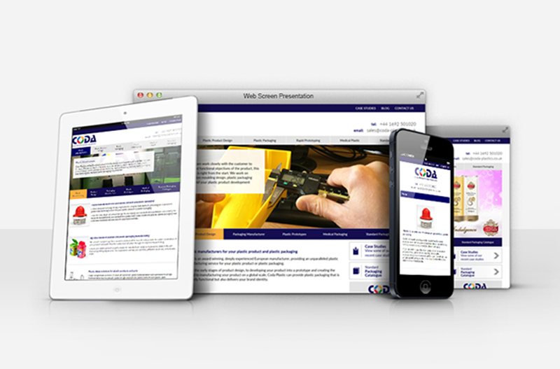 Coda Plastics Responsive Web Design Website