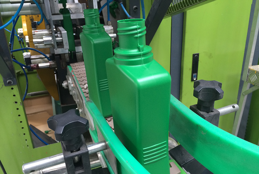 Green bottles production line