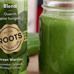 Roots drinks bottles are as green as their juices!