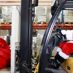 Santa getting ready for Christmas